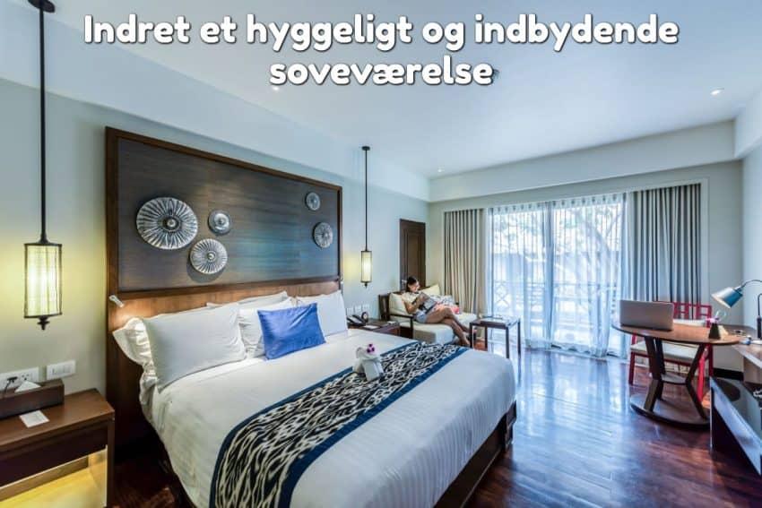 Indret et hyggeligt og indbydende soveværelse